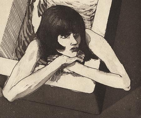 Mulher na Banheira – Gravura